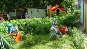 Озеленение детского участка