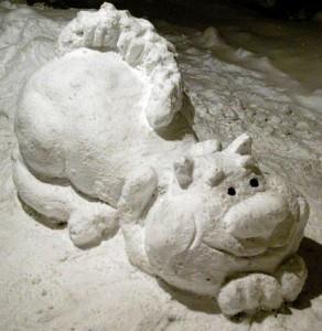 фигуры из снега в детском саду
