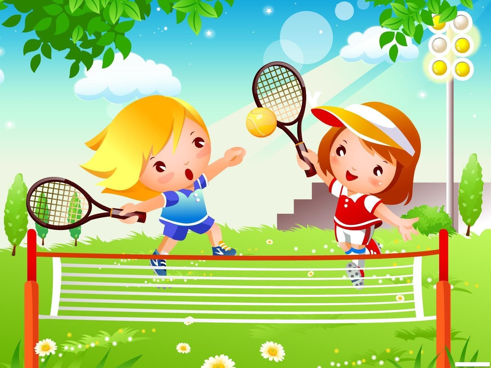 Детские открытки о спорт