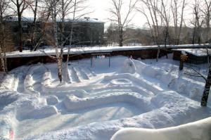 оформление зимних участков в детском саду