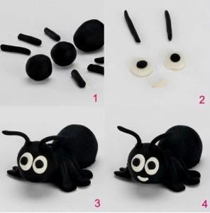 как слепить муравья