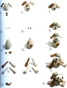 как слепить собаку