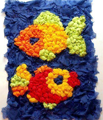 Цветные салфетки для поделок