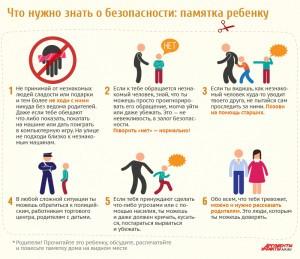 правила безопасности для ребенка