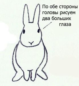 как нарисовать кролика поэтапно карандашом