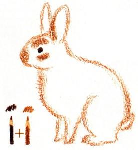 рисуем кролика поэтапно