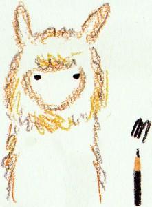 рисуем глаза альпака