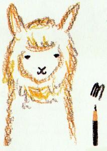 рисуем мордочку альпака