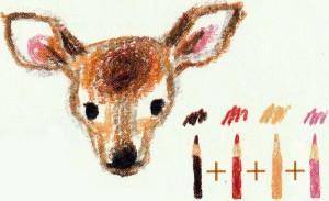 рисуем карандашом оленя