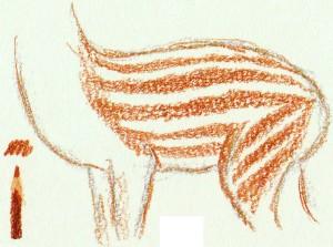 нарисовать пятнистого оленя карандашом поэтапно