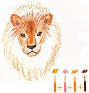 как нарисовать льва поэтапно для детей