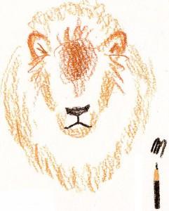 рисуем морду льва