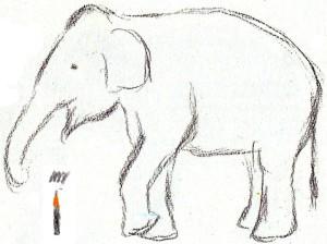 как нарисовать слона карандашом поэтапно