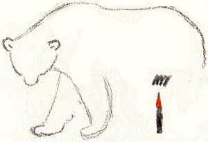 белый медведь нарисовать ребенку