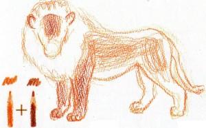 нарисовать льва ребенку