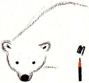 рисуем голову белого медведя