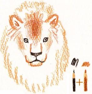 как нарисовать льва карандашом поэтапно
