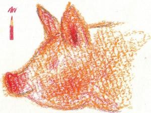 рисуем рыло свиньи