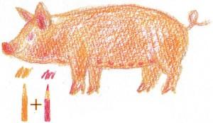 нарисовать свинью поэтапно