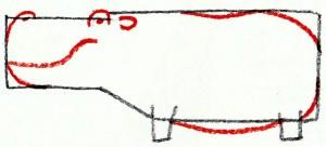 силуэт бегемота