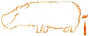 как нарисовать бегемота карандашом поэтапно