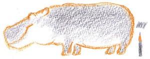 бегемот нарисовать карандашом ребенку