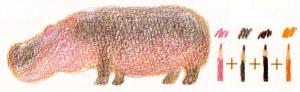 рисуем бегемота