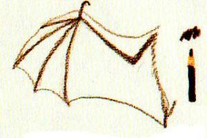 как рисовать летучую мышь