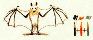 рисуем летучею мышь