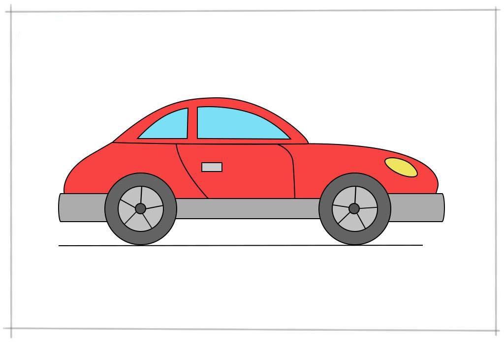 как нарисовать автомобиль