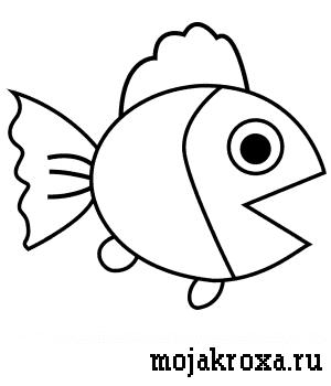 как нарисовать рыбку для детей