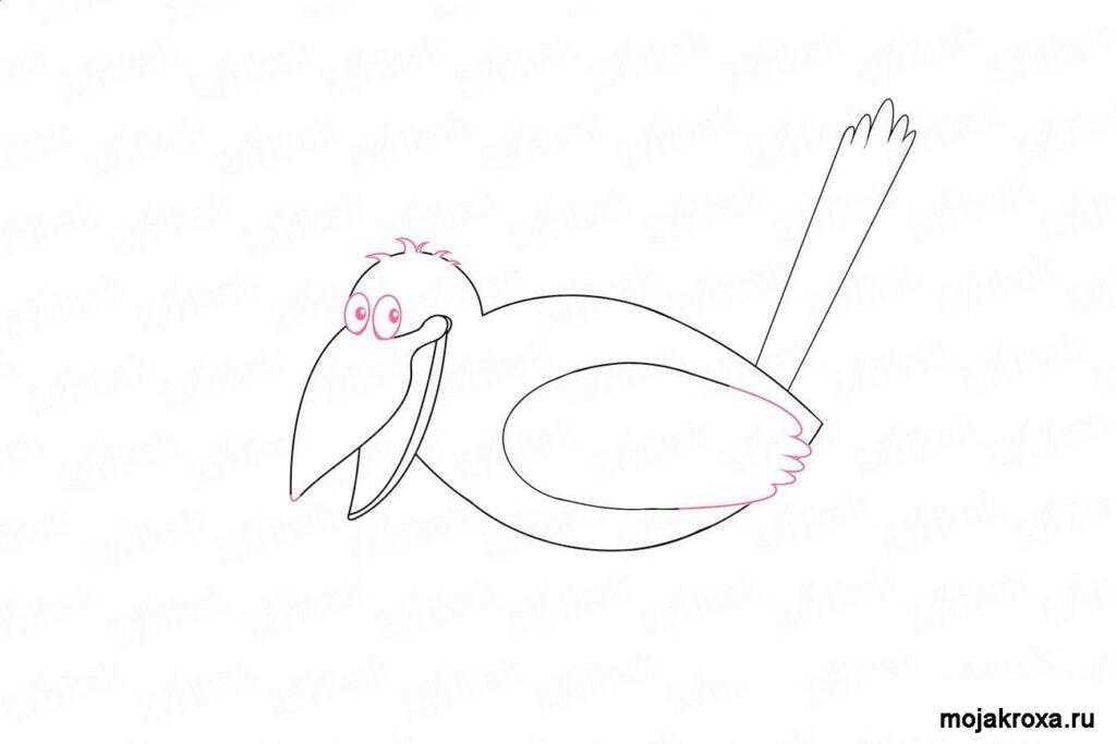 как нарисовать ворону поэтапно